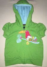 NWOT BABY GAP JACKET SZ 6 12 MONTHS GREEN BIRD SHORT SLEEVE INFANT SO CUTE