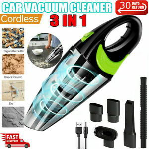Cordless Car Vacuum Cleaner Handheld Home Rechargeable Wet Dry Duster Portable