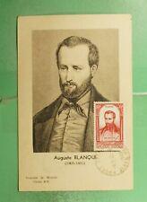 DR WHO 1948 FRANCE MUSEUM SLOGAN BLANQUI MAXIMUM CARD ART PORTRAIT g19470