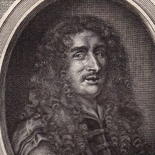 Portrait XVIIIe Charles Patin Médecine Médecin Numismatique Guy Patin