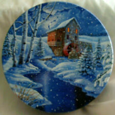Cookie Tin - Winter Scene with Mill