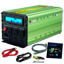 EDECOA Power Inverter 2000W 4000 Watt 12V dc to 110V 120V ac LCD Cables car RV