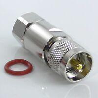 "PL259 UHF Plug Male for LDF4-50a LCF12-50J Andrew Heliax, 1/2"" Coax, LDF450a"