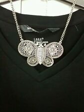 STUNNING Silver Statement Necklace By Diva @ Miss Selfridge V GLAMOUROUS 70'S EC