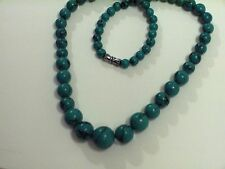 """GRADUATED TURQUOISE BALL 18"""" EVERYDAY FUN TIME NECKLACE, LOOK GREAT!!!"""