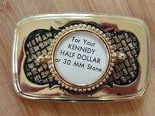 Hatch Belt Buckle Hamilton Gold Plated with 30mm 1/2$ mount (Pkg 6) 1047BBBB