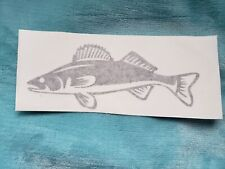 "Fishing Walleye Decal-71/2 "" walleye all weather decal .Assorted colors.$7."