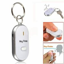 LED Key Finder Locator Keychain Find Lost Keys Whistle Sound Control White US