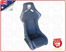 Fixed Bucket Seat Fibreglass Shell with Rails Mancave Office Chair Gaming BA