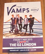 THE VAMPS MEET THE VAMPS FIRST HEADLINE ARENA TOUR 2015 LONDON A4 POSTER UNION J