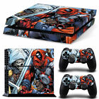 Sony PS4 Playstation 4 Skin Design Aufkleber Schutzfolie Set - Deadpool Film