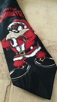 Tasmanian Devil Taz Novelty Necktie Christmas tie Santa Looney Tunes Santa gift