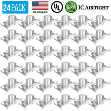 24 PACK 6-INCH NEW CONSTRUCTION SLOPE CAN AIR TIGHT HOUSING RECESSED LED LIGHT