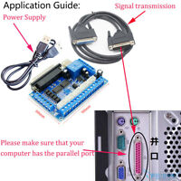 MACH3 CNC 5 Axis Breakout Board Interface For CNC Mill Stepper Motor Driver New