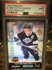 1992 Team Pinnacle Wayne Gretzky Eric Lindros PSA 9 POPULATION 20