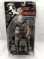"McFarlane Toys Movie Maniacs 3 Ash Army of Darkness 7"" Figure Damaged Box"