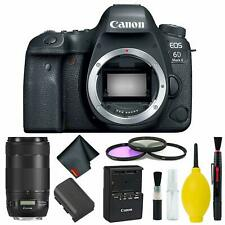 Canon EOS 6D Mark II DSLR Camera Body Only 3 Piece Filter Kit (Intl Model) w/Can