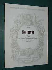 """Partitions Violon, violoncelle et acc. Piano """"Trio ré maj. op. 70"""" BEETHOVEN"""
