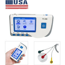 Portable Handheld Ecg Ekg Monitor Patient Handheld Heart Rate Machine Pc 80b