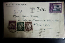 Gambia Stamps to France Cover w/ 3 postage Dues A desirable Cover