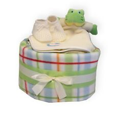 Unisex Baby Nappy Cake Gift Set for Boy or Girl Baby Shower Maternity Present