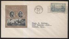 1937 AMERICAN ARMY HEROES  Cachet/Stamp Lee & Jackson