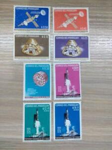 Paraguay 1964 space satellites 8 stamp set MH