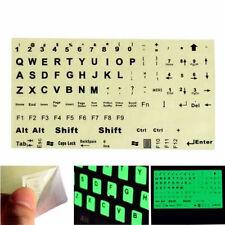 TASTIERA Inglese US Fluorescenti Sticker grandi lettere nere per laptop niuk