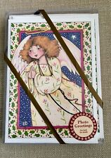 """Mary Engelbreit Christmas Cards (10) """" The Angel� With Envelopes New In Package"""