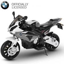 Moto Elettrica per Bambini BMW S1000 RR Grigio 12V con Chiave Accensione Ruote