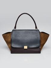 Celine Tri Color Leather/Suede Large Trapeze Bag