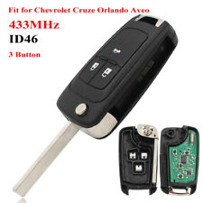 3BT Remote Key Fob with 433MHz ID46 Chip for for Chevrolet Cruze 2010-2015 HU100