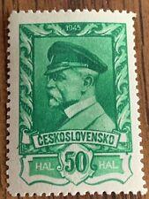 1945/46 - Czechoslovakia-thomas g. masaryk-scott 263 a91 50h Mnh