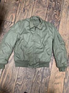 US Military Cold Weather High Temperature Resistant CVC Jacket GI Medium Long