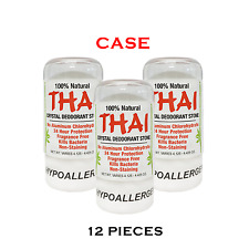 100% NATURAL THAI CRYSTAL DEODORANT STONE 4.25 oz - Wholesale Bulk Case (12 pcs)