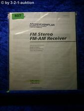 Sony Bedienungsanleitung STR D615 / D515 FM/AM Stereo Receiver  (#0807)