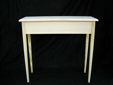"""Unfinished 36"""" Console, Sofa, Foyer Beveled Edge 11"""" deep  w/Tapered Legs"""
