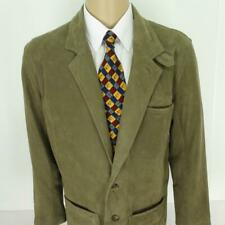 38 R Orvis Brown Leather 2 Btn Elbow Patches Mens Jacket Sport Coat Blazer Mint