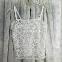 Vintage J Crew white lace camisole size small