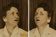 VINTAGE PHOTOS BOOTH STANK FACE REPULSIVE EXPRESSION EMOTIONS LIPSTICK LADY FUN