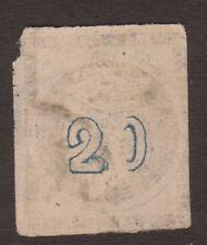 """1875/80 20 Lepta Stamp Var. """"double 2"""" & """"inverted 0"""". Rrr"""