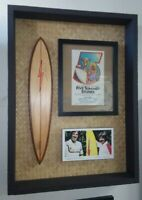 Gerry Lopez Rory Russell Lightning Bolt Surfboard Display Signed Rick Griffin