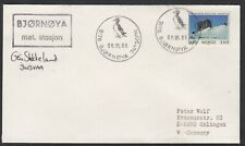 "Arctic,""Base BJÖRNÖYA ""1986,Cachet+Signature+Postmarks,look Scan !! 4.7-11"
