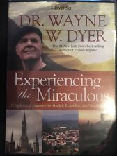 New DR. Wayne Dyer Experiencing The Miraculous 4 Disc DVD Set Assisi Lourdes OOp