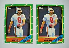 1986 Topps Steve Young Rookie Card Lot (2)