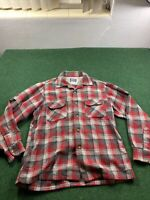 Vintage Pendleton Large Made in USA 100% Pure Virgin Wool Plaid Flannel Shirt
