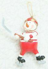 Olympics Snowman Christmas Tree Ornament Nhl Hockey Figure Skating Red White