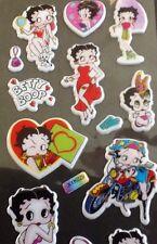 Betty Boop PVC rembourré Autocollants 5 feuilles - 95 Stickers au total vintage Cartoon