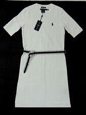 $185 Women Ralph Lauren Golf Fit Polo Pony Sundress Mesh Dress Striped Belt XS