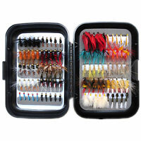 Flyafish 100pcs vintage wet and dry fly fishing lure stream trout fishing